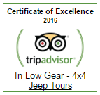 Tripadvisor Certificate of Excellence for In Low Gear