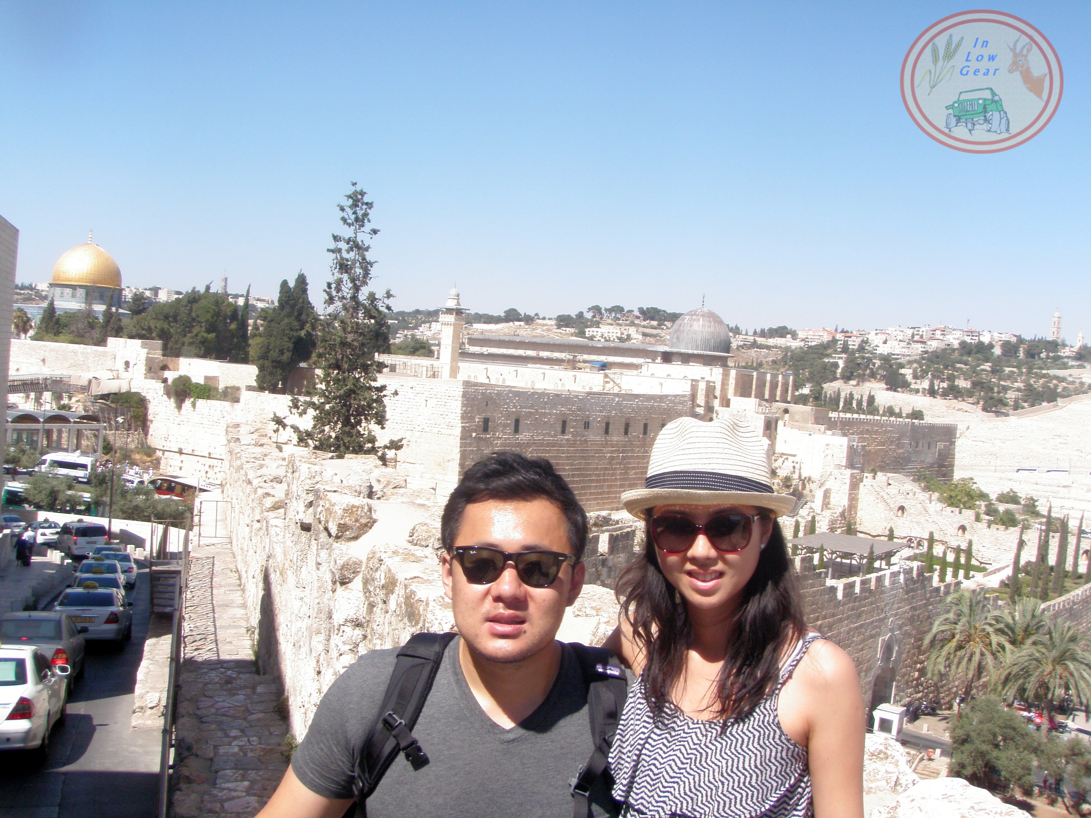 Jerusalem Mt. of Olives, the old city walls, El Aqsa and Dome of the Rock