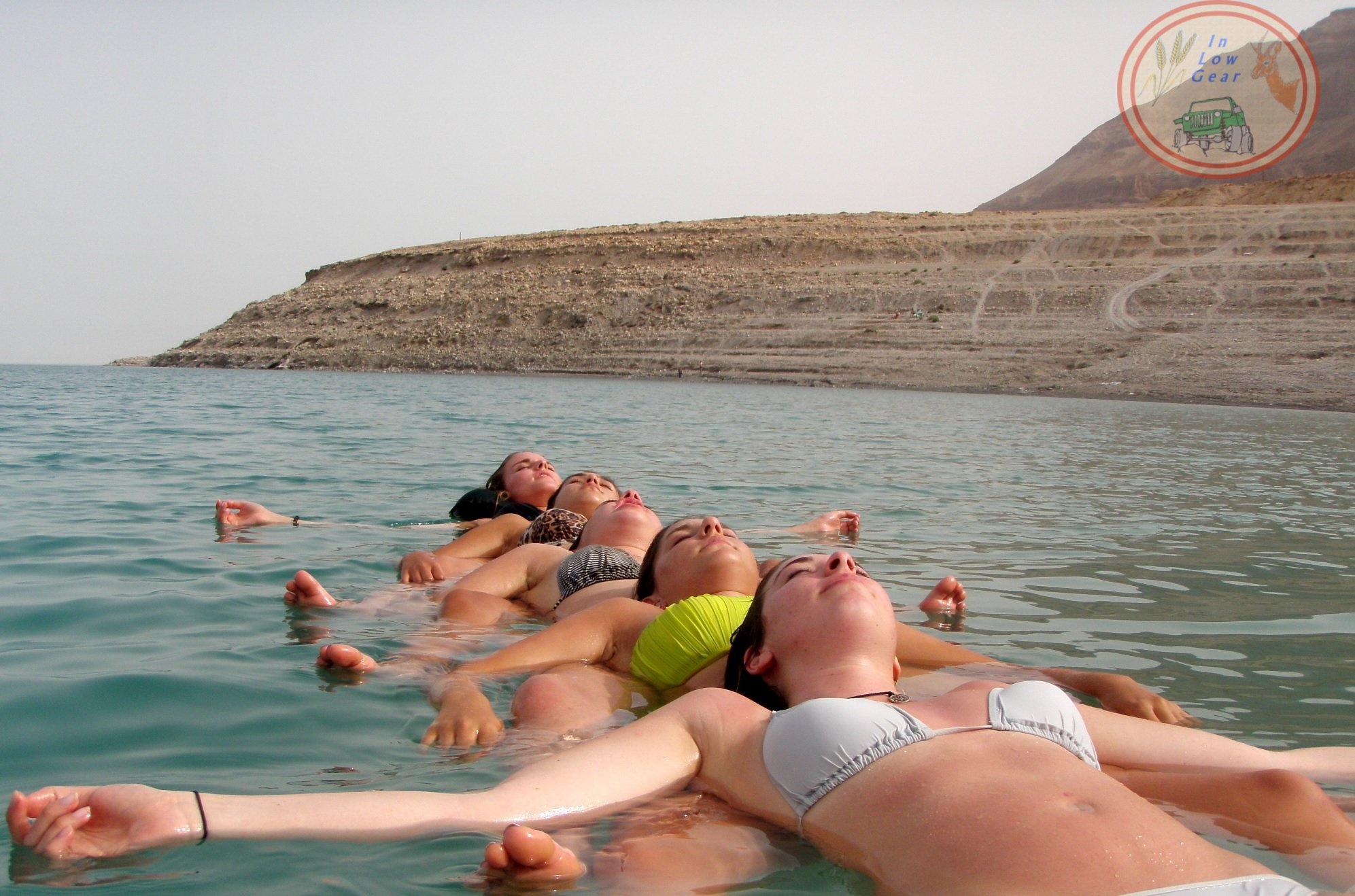 Metzoke Dragot Dead Sea group meditation float jeep tour.