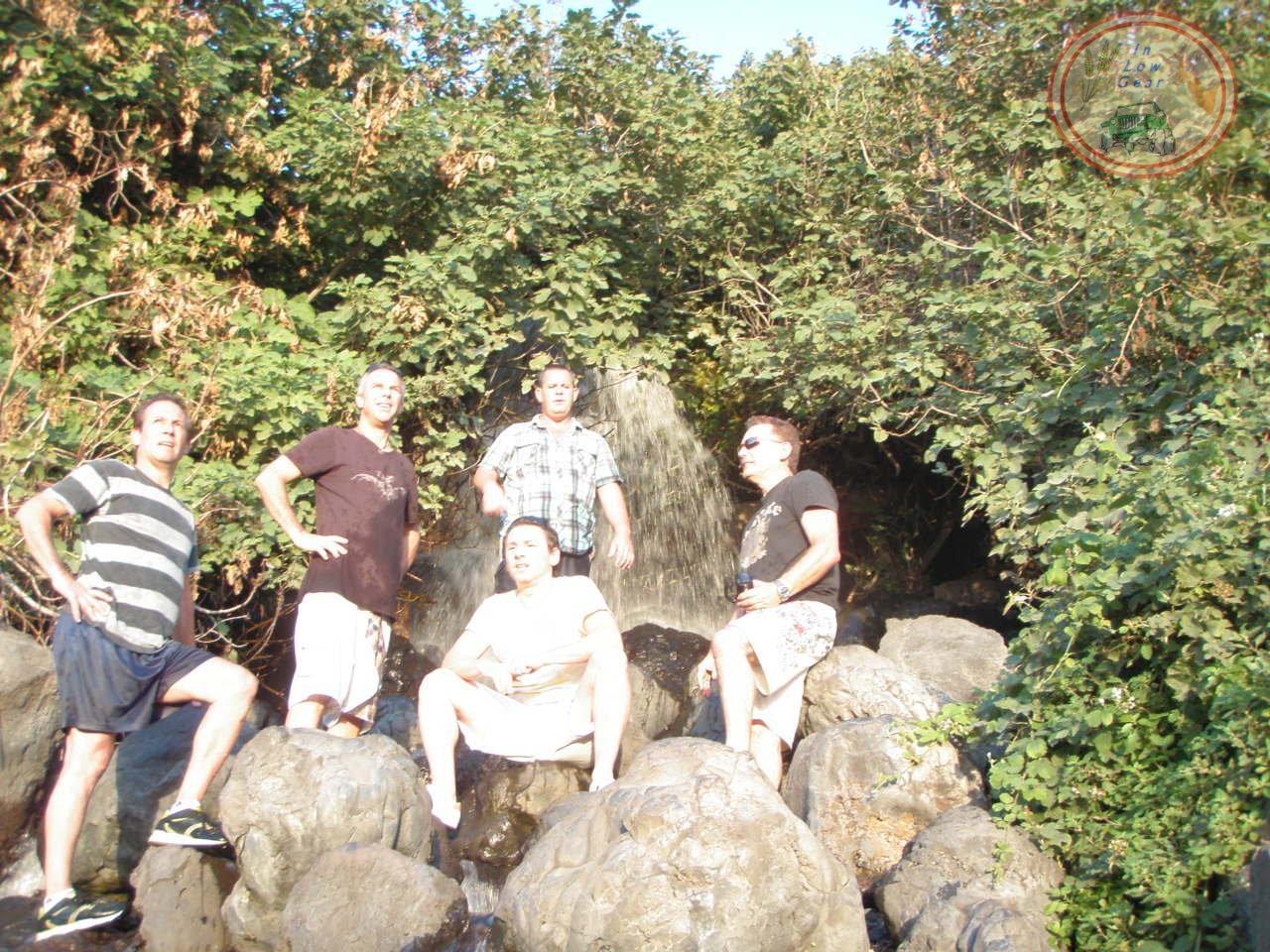 jeep tours Golan: Ein Tina waterfall. טיולי ג'יפים בגולן, מפל עין תינה
